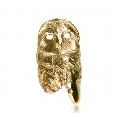 Owl Ring Yellow Gold
