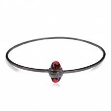 Black Venom Bracelet, Pink Tourmaline